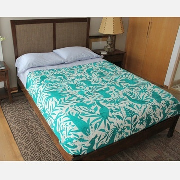 Turquoise Bedspread.