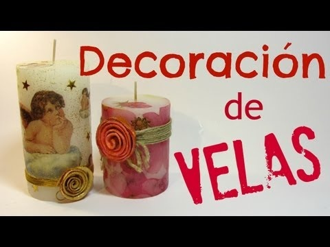 Tutorial: Velas decoradas. Candles decorated.