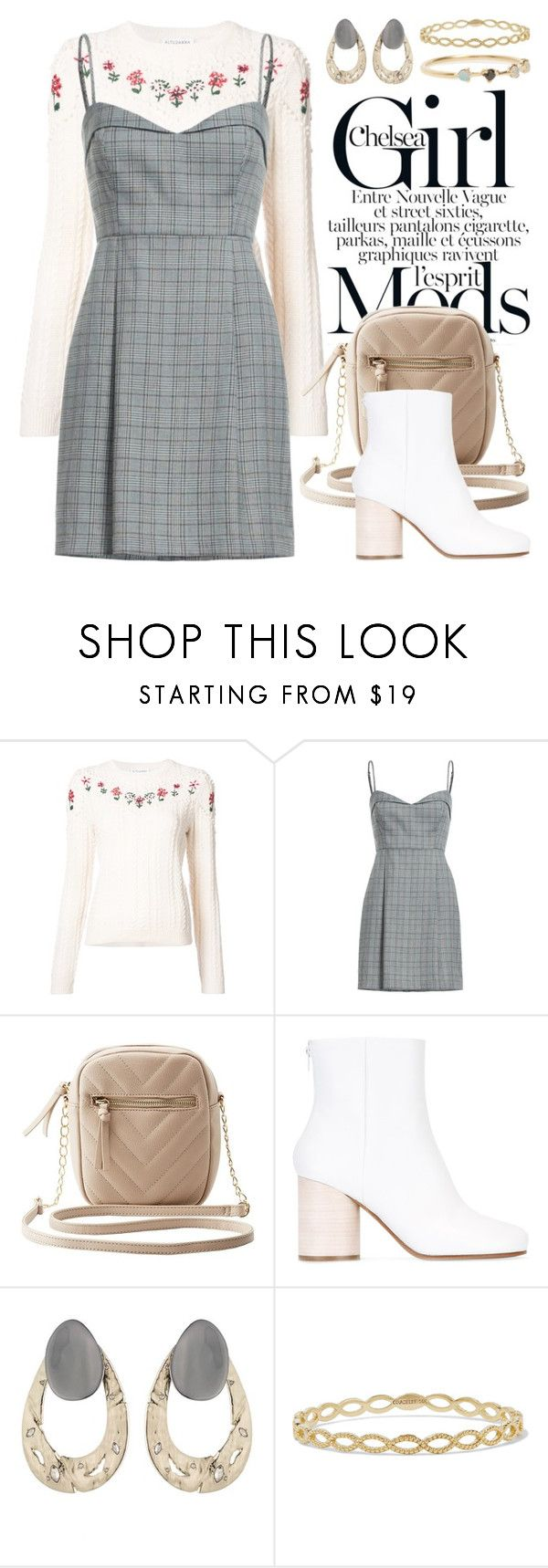 """Plaid 4609"" by boxthoughts ❤ liked on Polyvore featuring Altuzarra, Charlotte Russe, Maison Margiela, Alexis Bittar, Grace Lee Designs and WWAKE"