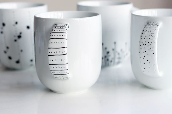 DIY Idée de décor sur porcelaine