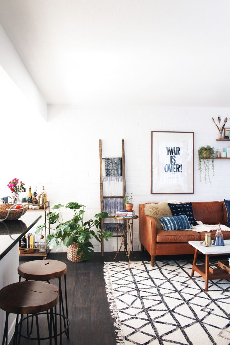 New Darlings - Boho Midcentury Living Room