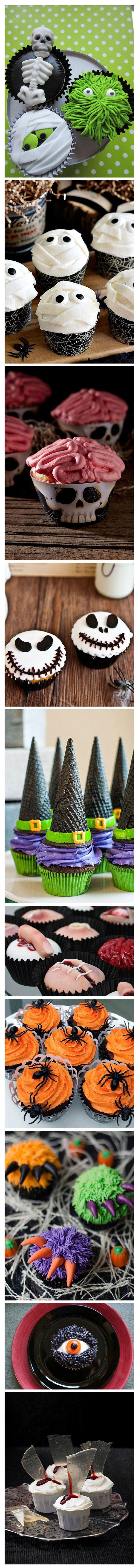 Cupcakes de Halloween Tenemos #decoracionenglobos para #fiestasinfantiles llámanos y celebra con nosotros 3204948120-4114997
