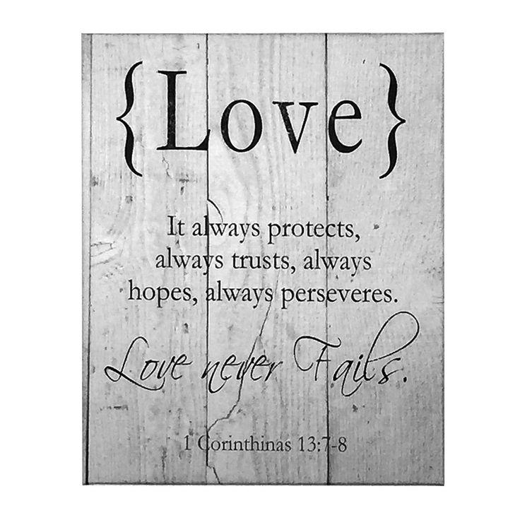 LOVE Canvas Art, Wall Decor, 1 Corinthians, Scripture Verse Art, 16x20