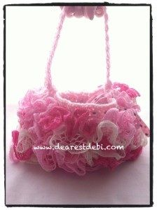 A cute sashay ruffle purse is perfect for any little girl or maybe you'd like one for yourself? Get the pattern and photo tutorial on my blog.. http://dearestdebi.com/crochet-ruffle-lined-purse