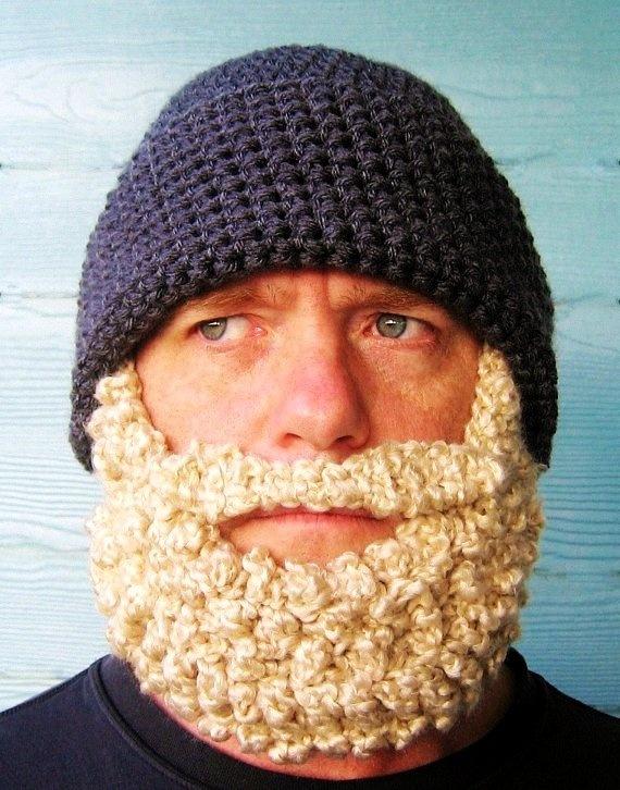 Crochet Hats: Crochet PATTERN Beard Hat PATTERN Beanie Santa Claus- Photo... - Inspiring & lovely Hats with Christmas Hats, Love it!