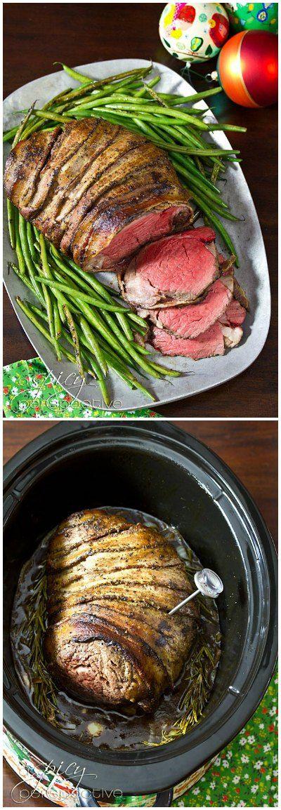 Slow Cooker Beef Tenderloin Recipe with Balsamic Glaze | A Spicy Perspective