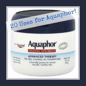 20 Uses for Aquaphor. Dermatologist recommended to my Dad while he was treating him for skin cancer to help healing. #useallthetime