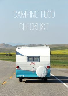 Camping Food Checklist. Take the stress out of what food to pack on your next camping trip, with this camping food checklist! And while you're here grab some camping recipe ideas too!