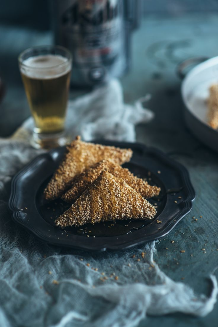 Sesame crusted cheese pies, smothered in a chilli infused honey.  A perfect match for a unique beer. Click through to see the recipe...