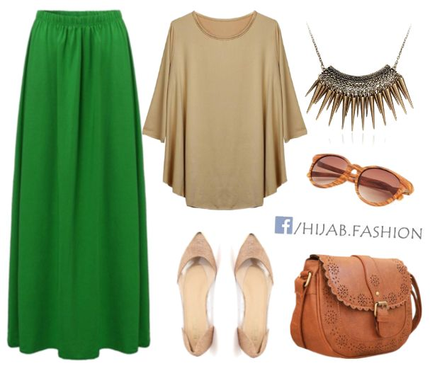 Green & Golden Shades - Outfit Idea