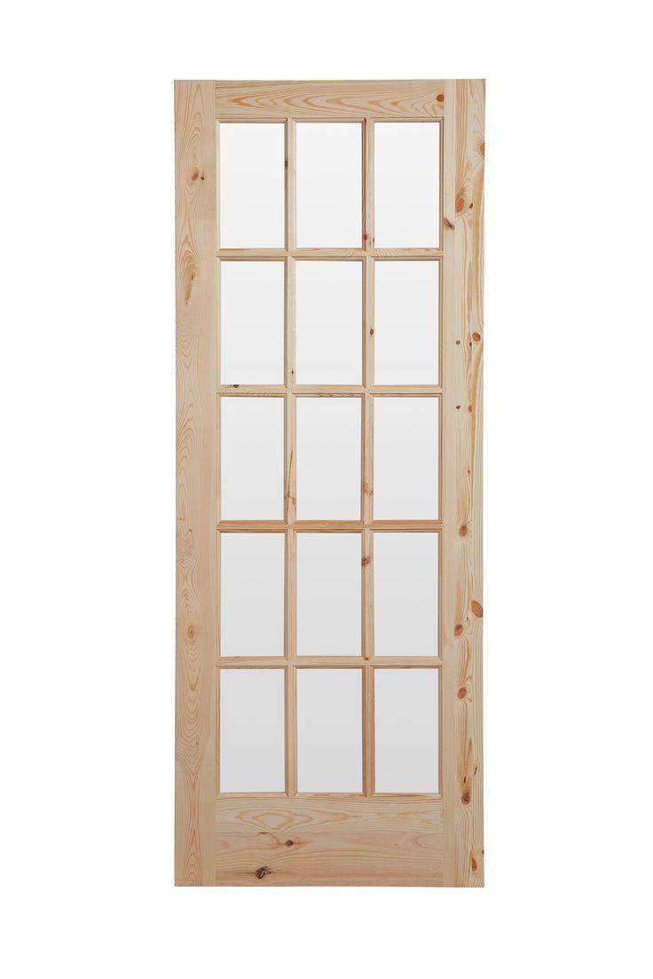 15 Lite Knotty Pine Fully Glazed Internal Door, (H)1981 (W)762mm | Rooms | DIY at B&Q
