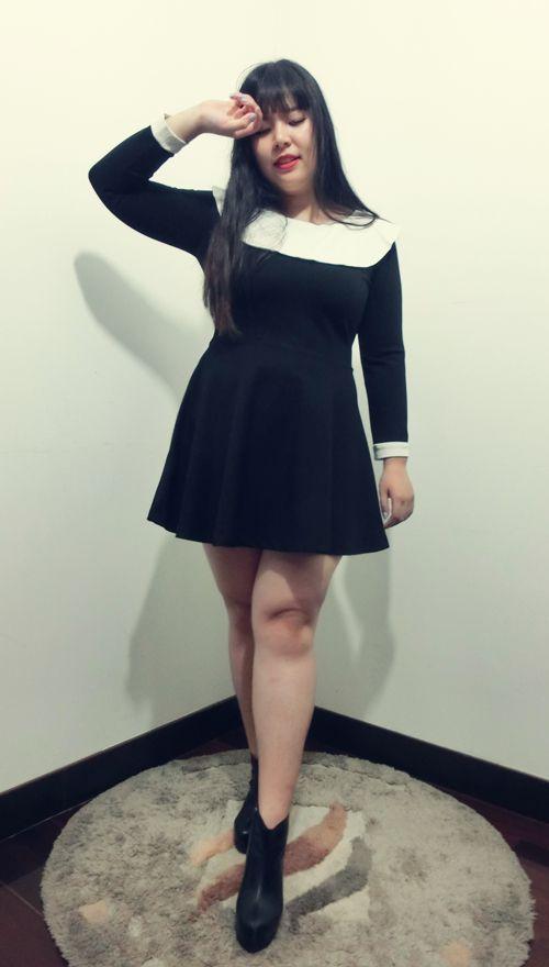 【ANQ家】大码女装经典小香风黑白裙定制胖mm显瘦秋装新修身气质-淘宝网