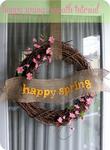 Happy Spring DIY Wreath