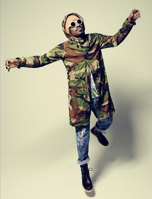 Menswear Mens Fashion Camo Jacket Andre 3000