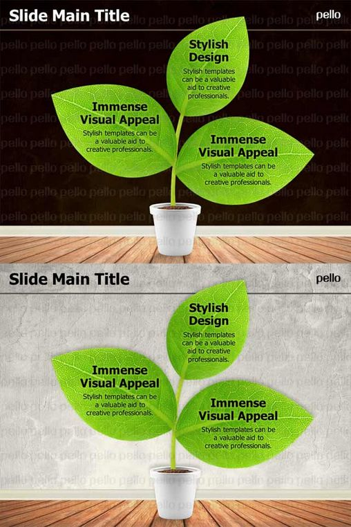 Diagrams: Plant. Features 2 Plant-themed slides. Easy editable and FULL HD.