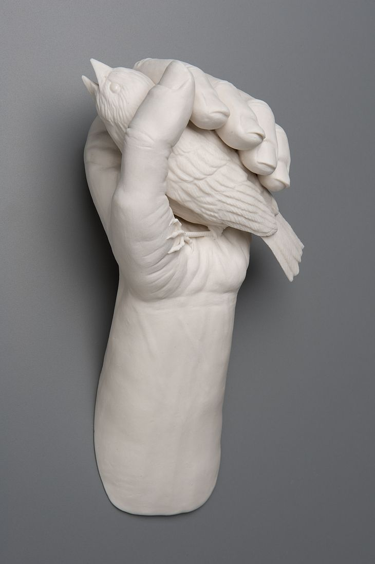 """...they say it's worth 2 in the bush.    Kate Macdowell's """"In The Hand 2"""""""