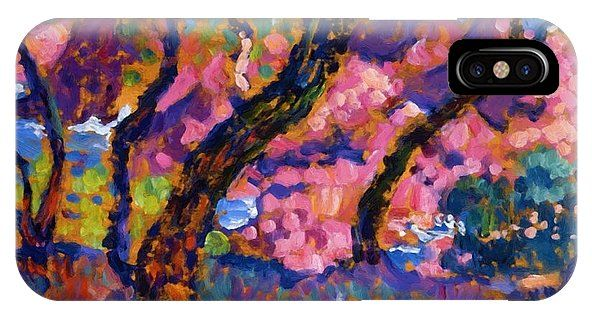 In IPhone X Case featuring the painting In The Shade Of The Pines Study 1905 by Rysselberghe Theo van