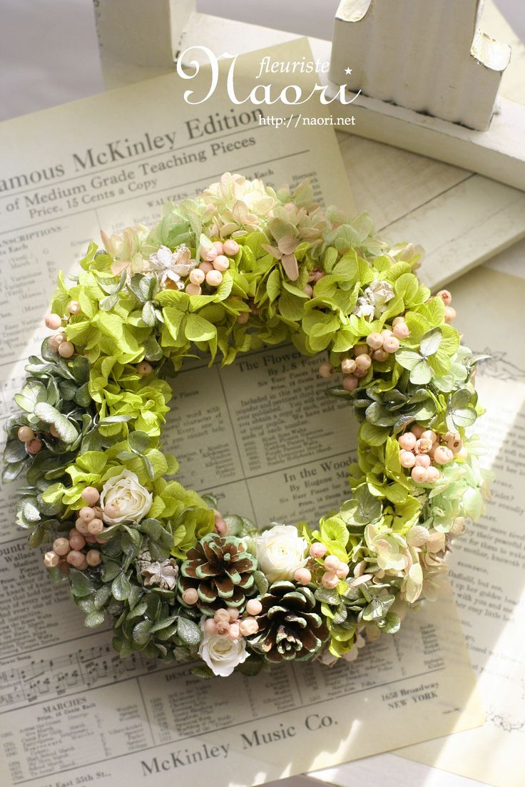 Dried flower wreath 2014 More