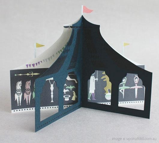 Circus at Midnight, designed by Japanese paper artist Tegamiya (Terada Mizuho),