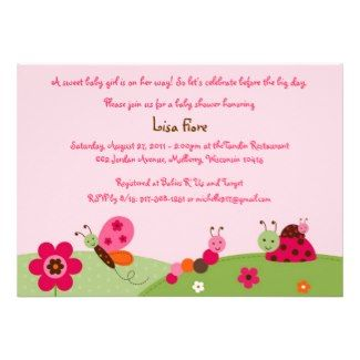 28 best baby shower invitation wording images on pinterest pink ladybugs and butterflies baby shower invitation stopboris Gallery