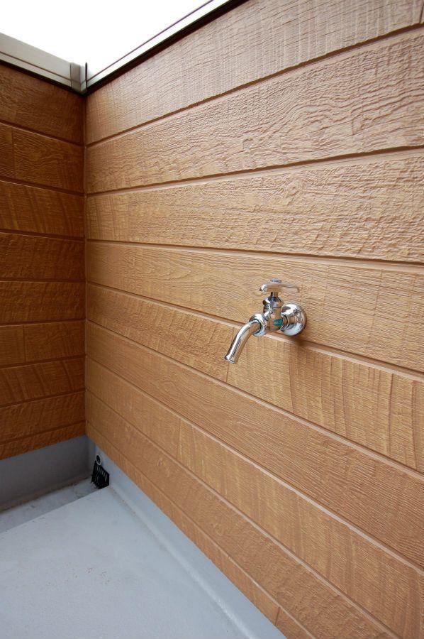 バルコニーは第2のリビング 工藤工務店の施工写真集 水栓