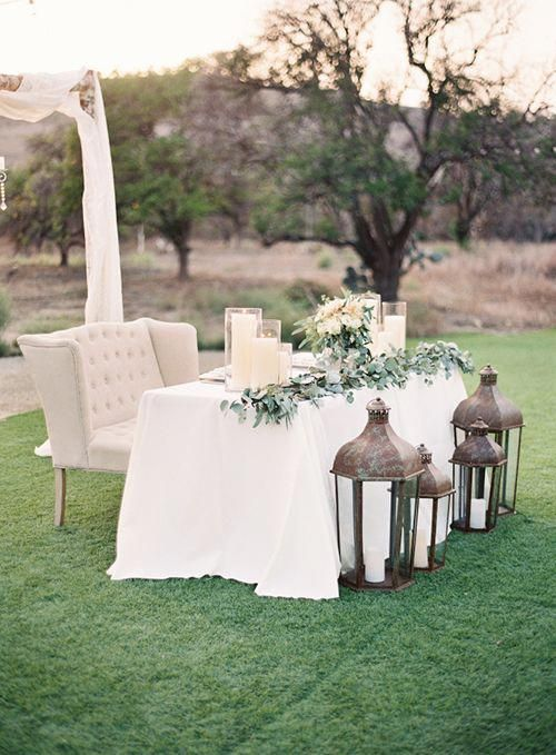 Brides: 6 Sweetheart Table Ideas Using Loveseats For Your Wedding ...