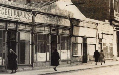 átkai Sándor első műhelye a Kölcsey utcában (A kép forrása: Somogyi-könyvtár, Helyismereti gyűjtemény)