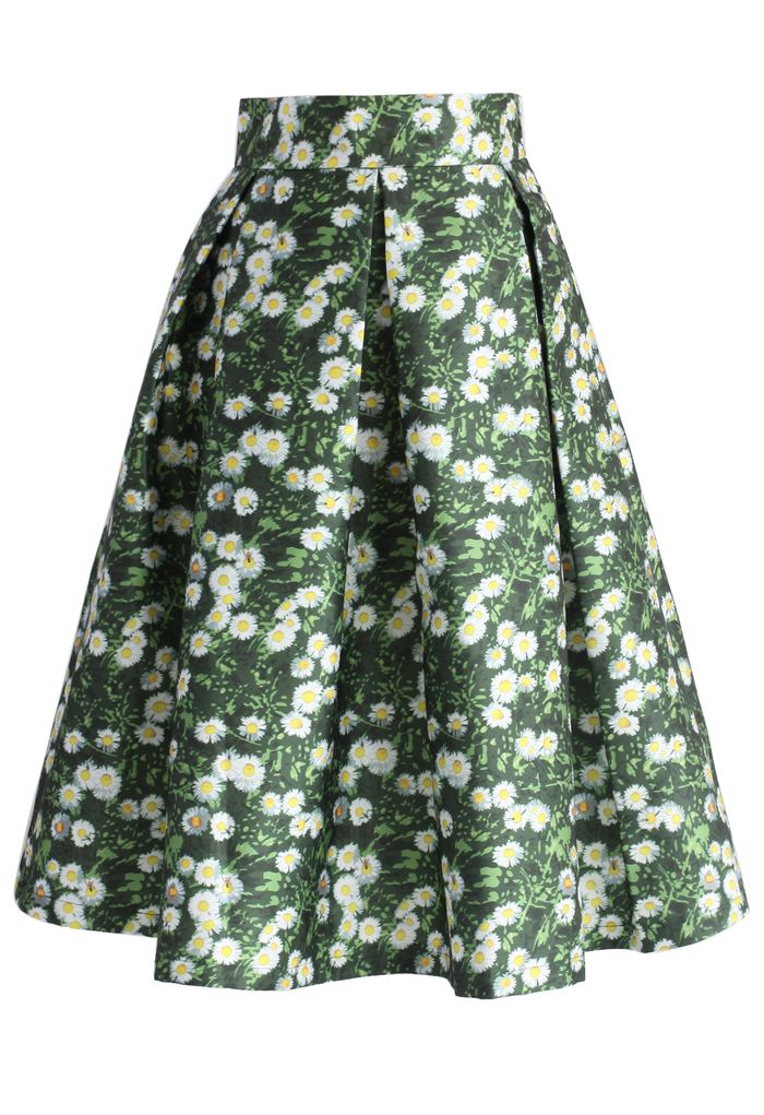 Daisy Paradise A-line Midi Skirt - New Arrivals - Retro, Indie and Unique Fashion