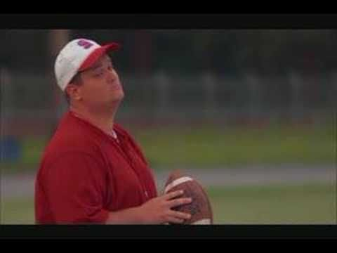 "I love this movie! Narrow Way - Facing the Giants ""My momma can kick wide left and wide right. But that ain't gonna get ya home. That ball has got to go through the middle!....It don't have to look pretty. It don't have to look smooth. It can look like a dyin' duck! But the ball has got to go through the middle.....No let's see you kick it through those pearly poles....Yeah. that's what I'm talkin' about."" Love the way he talks! :)"