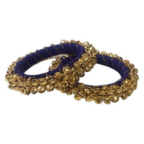 Buy Blue Ghungaroo Bollywood Bangle Kada Bonyhub.com