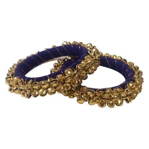 Buy Blue Ghungaroo Bollywood Bangle Kada Bonyhub.com