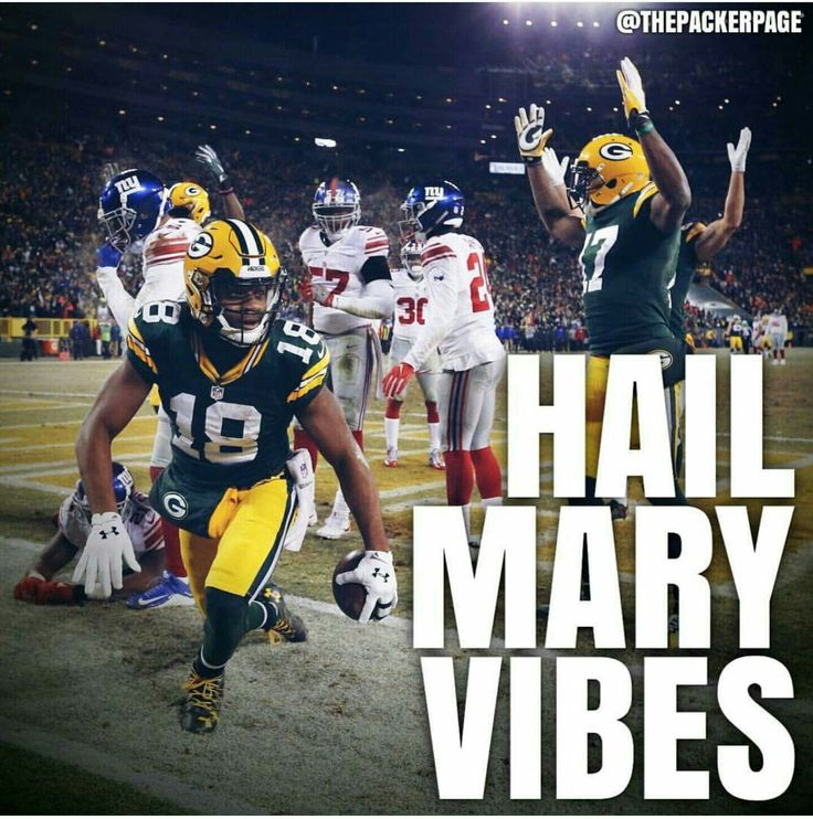 Hail Mary Vibes = The Best Kind of Vibes #Packers #GreenBay #Football #NFL #Playoffs