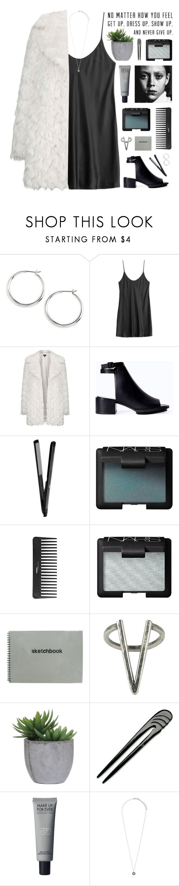 """""""//topshop fur coat//"""" by lion-smile ❤ liked on Polyvore featuring Lauren Ralph Lauren, La Perla, Topshop, Zara, NARS Cosmetics, Sephora Collection, The 2 Bandits, Lux-Art Silks, Pieces and women's clothing"""
