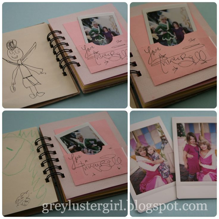 Disney Picture Autograph Books | FujiFilm Mini Max - like Polaroids but easy to find and good quality - great for an autograph book!
