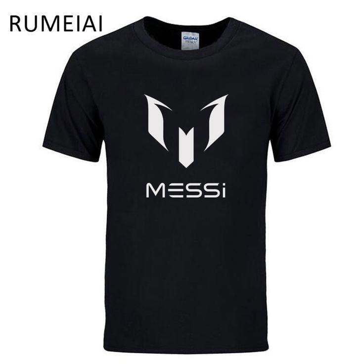 RUMEIAI 2017 summer brand 100% cotton Barcelona MESSI Men t-shirt tops Man casual short sleeve t shirts Plus Size