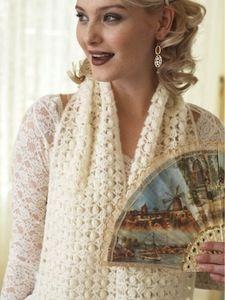 Vintage Lace Popcorn Shawl | AllFreeCrochet.com