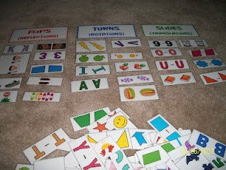 flips, turns and slides sorting cards