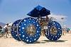 stardust trike. tricycle. burning man 2009. Stardust Trike. Tricycle. Photo taken at the Burning Man 2009 festival (Black Rock Desert, Nevada). art car. blue. burning man car. burning man festival. stars. three wheeler. umbrella.