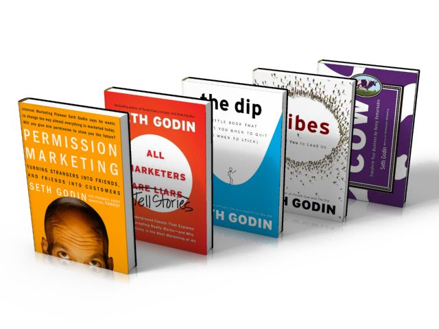 Seth Godin Marketing Books; enter his competition for 5 free books.