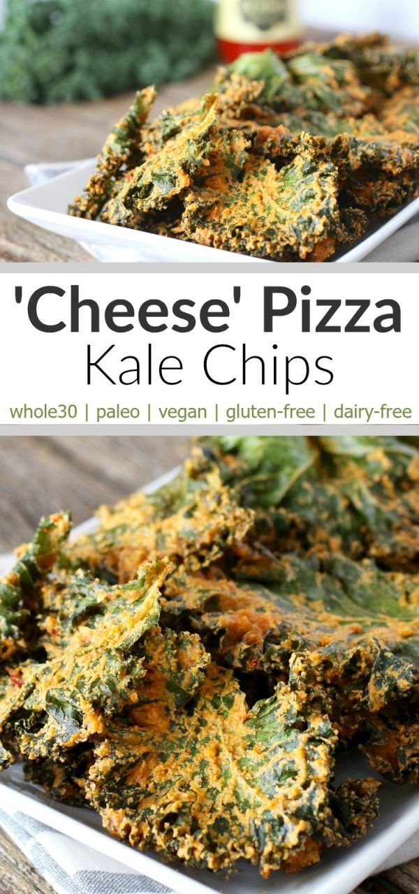 Vegan, Whole30-friendly Cheese Pizza Kale Chips are a must try 'cheesy ...