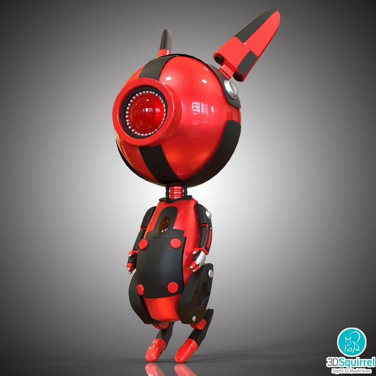 Robo Rabbit 3D Model fbx obj max | 3DSquirrel