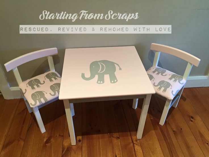 Hand painted & Upholstered Kids Set
