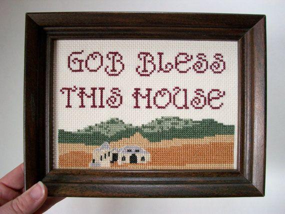 Gob bless this house -- funny cross stitch, inspired model home development via Etsy. #ArrestedDevelopment