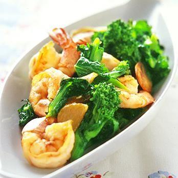 えびと菜の花の炒めもの | 重野佐和子さんの料理レシピ | プロの簡単料理レシピはレタスクラブニュース