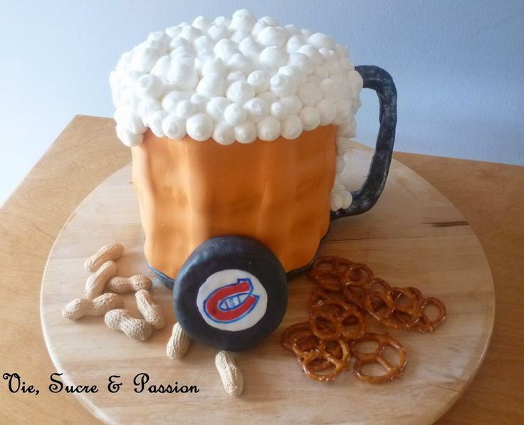 g teau chope de bi re adulte beer mug cake adult anniversaire bastien pinterest mug. Black Bedroom Furniture Sets. Home Design Ideas