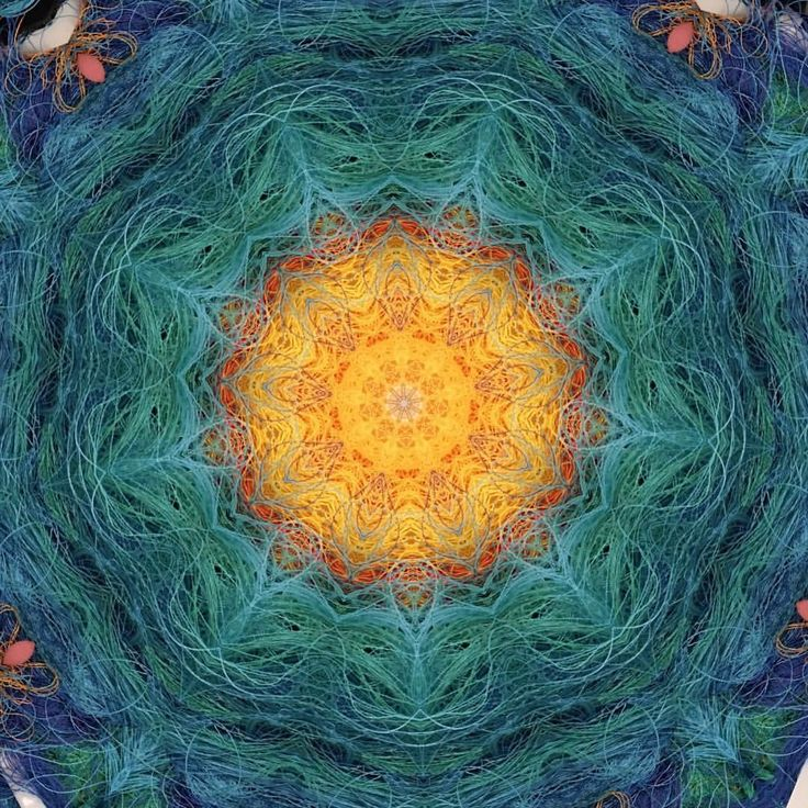 Digital Mandala by Gabriel Dawe of one of his Plexus Relics.. Posted on Facebook 6/3/16