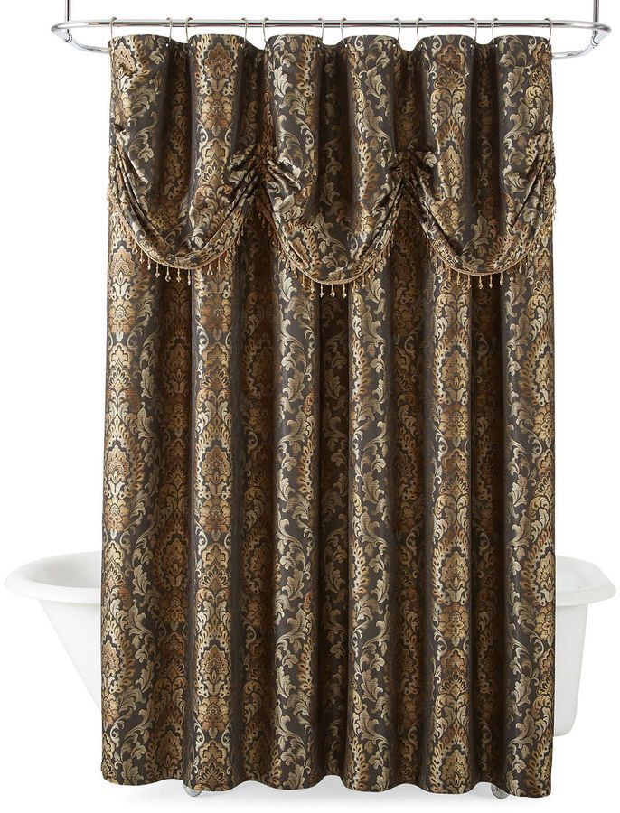 ROYAL VELVET Royal Velvet Madrid Shower Curtain