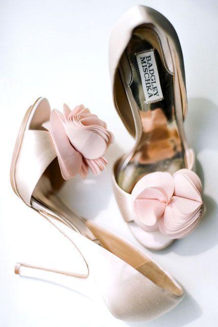 Blush Pink Wedding Shoes So Pretty