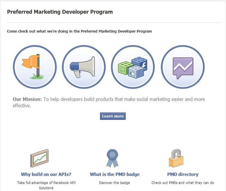 The New Facebook Preferred Marketing Developer Program
