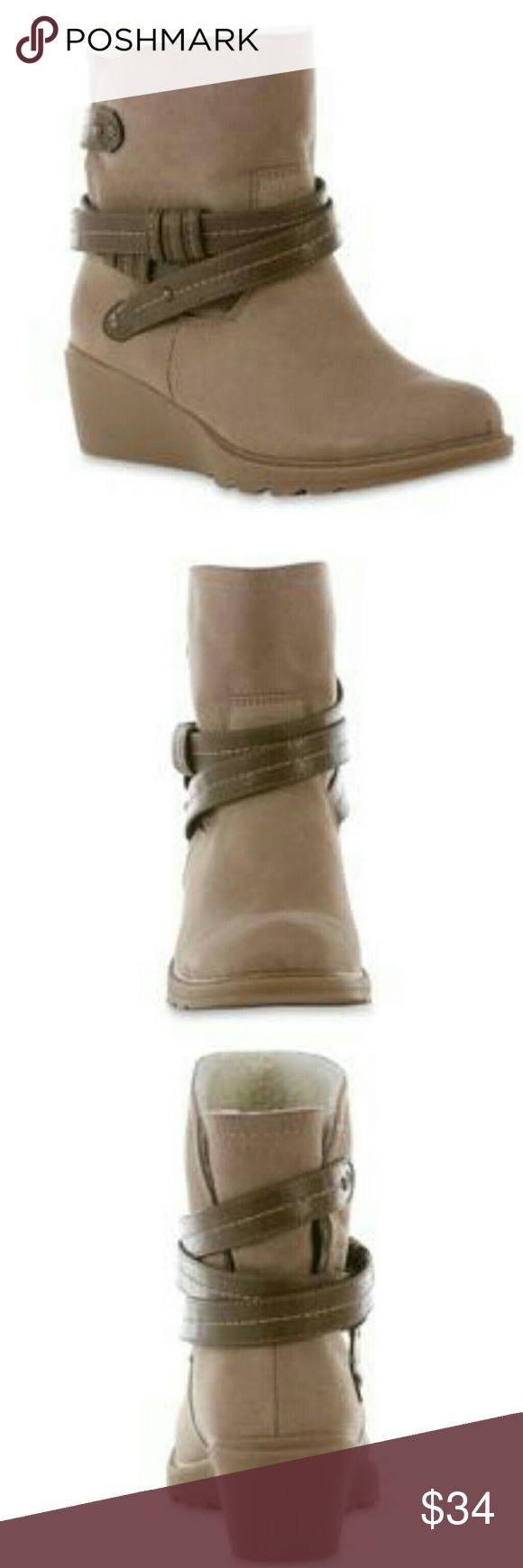 Rosette Taupe Ankle Bootie Brand new without box, soft microsuede, detailed with crisscross straps, fleece lining,  slip on booties, cushioned insole, treaded rubber outsole. Joe Boxer Shoes Ankle Boots & Booties